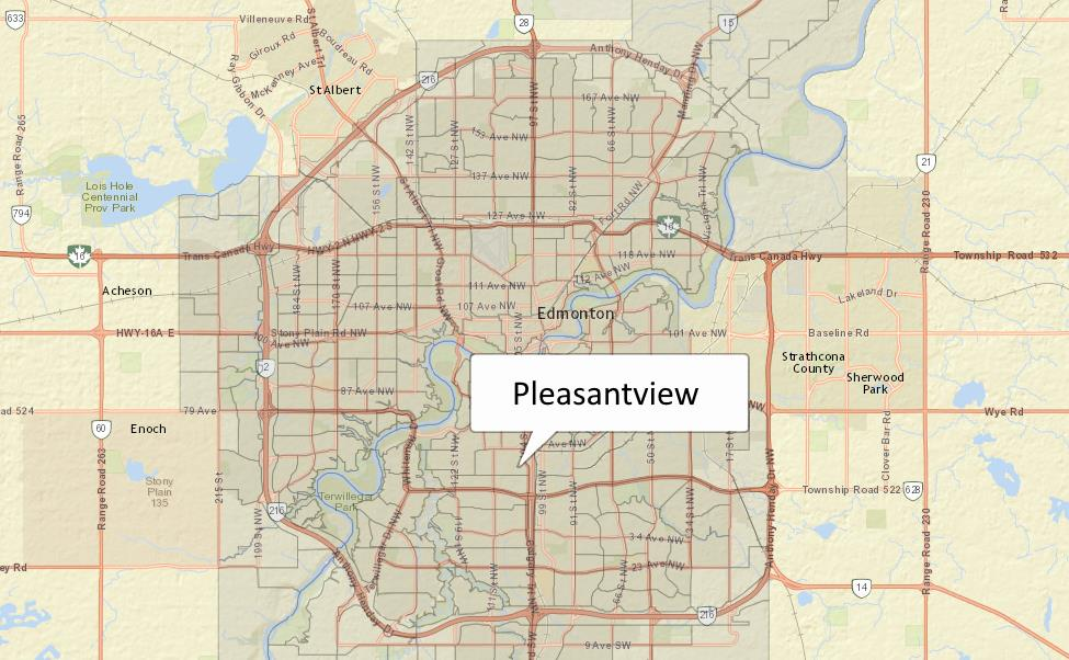Pleasantview was considered a rural area until development began in the 1940s after the end of World War II. Learn more at the City of Edmonton's website.