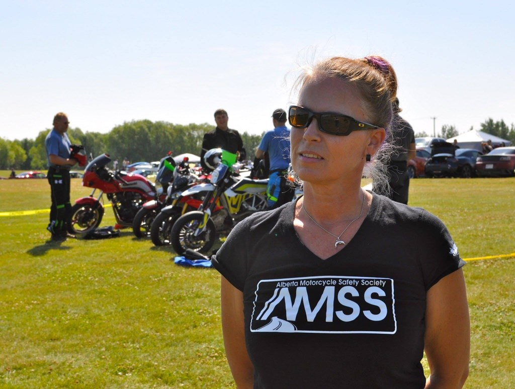 Liane Langlois, president of the Alberta Motorcycle Safety Society. Photo by Doug McFayden.