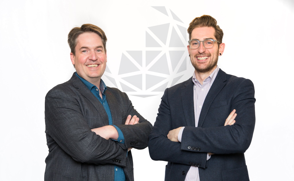 Michael Taschuk, Founder & CTO and Ryan Tucker, CEO, G2V Optics, supplied