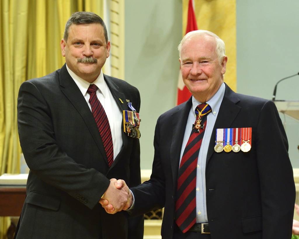 Incoming city manager and retired brigadier-general Andre Corbould was awarded the Meritorious Service Cross (Military Division) in 2014.