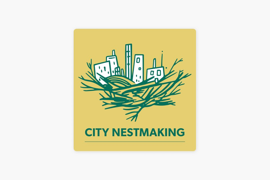 City Nestmaking's cover art, featuring a drawing of tall buildings nestled among the sticks of a nest