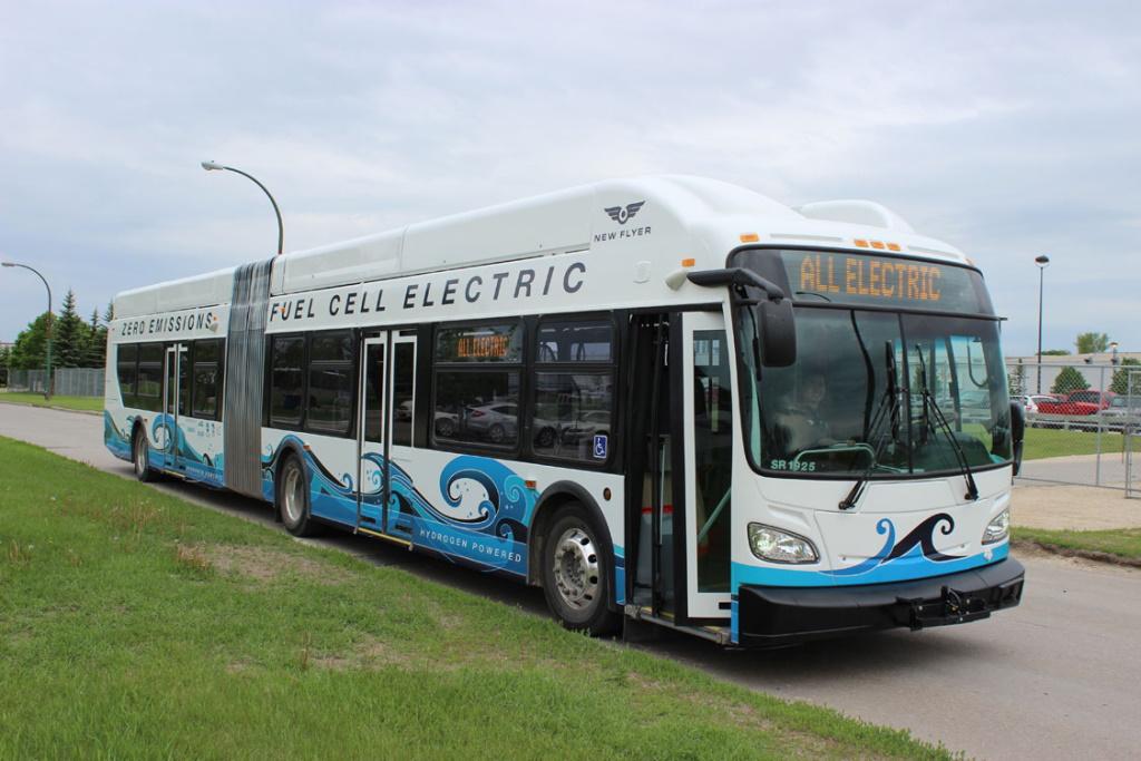 A hydrogen bus.