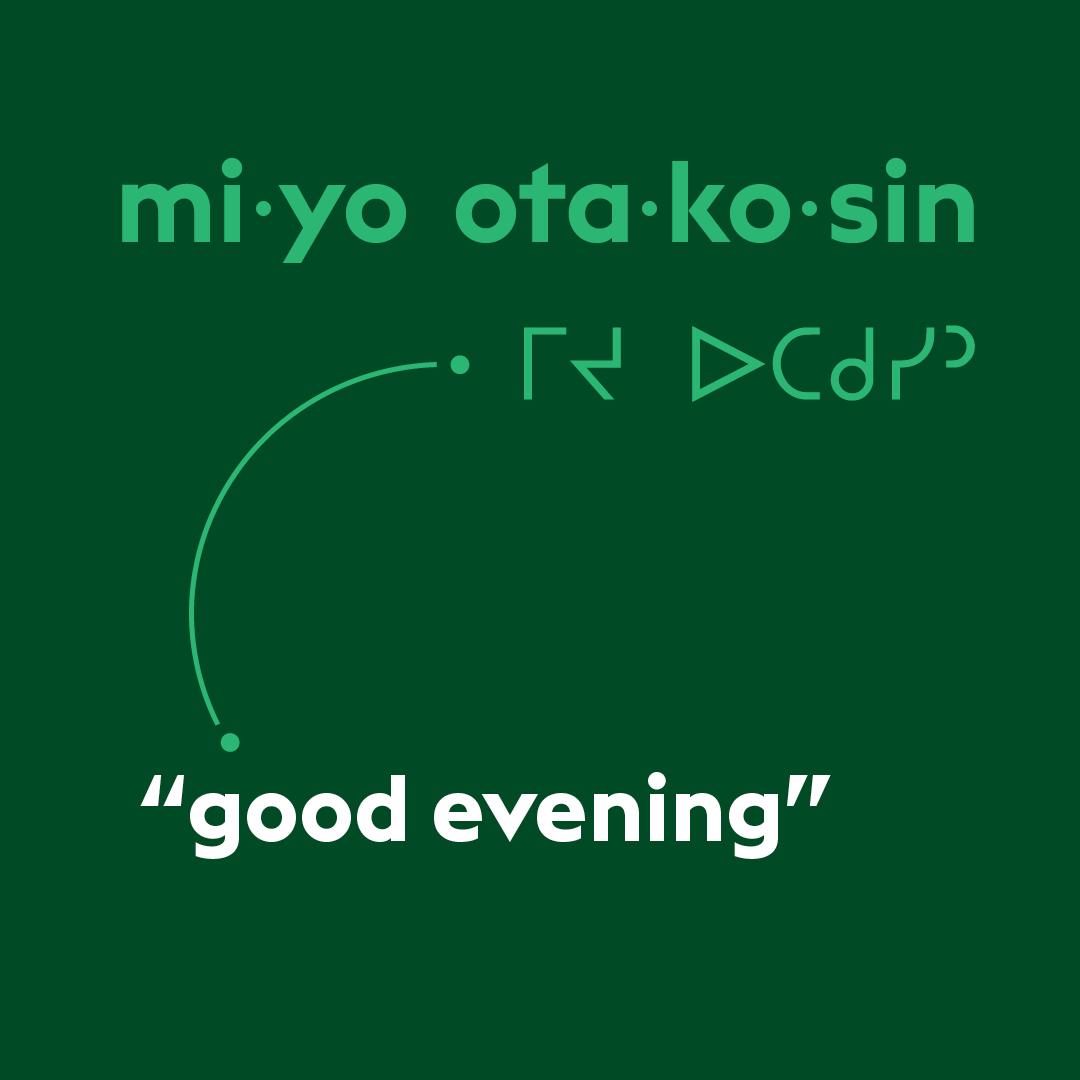 Cree lesson of the week: miyo otakosin