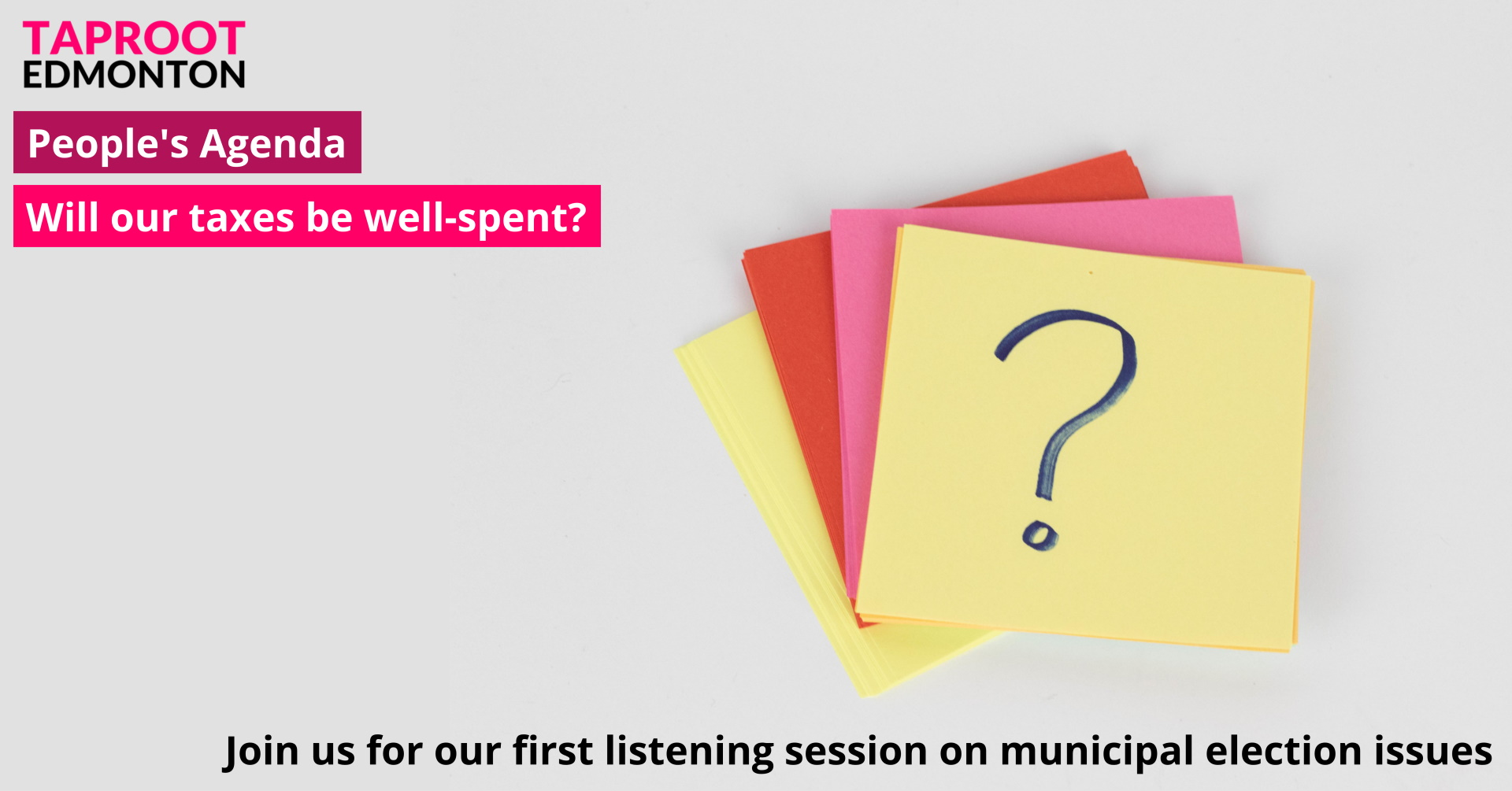 People's Agenda listening sessions start March 11