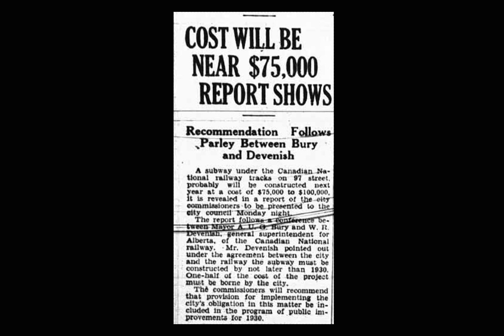 """A newspaper clipping from 1929, headlined """"Cost will be near $75,000, report shows"""""""