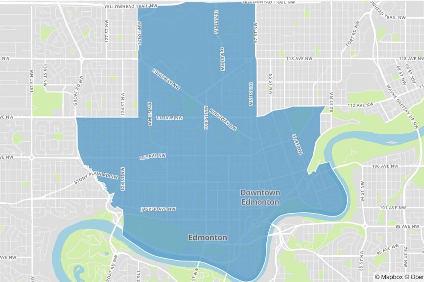A map of Edmonton's O-day'min ward.
